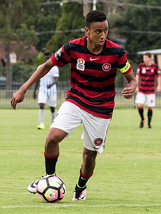Keanu Baccus - Baccus playing for Western Sydney Wanderers Youth in January 2017