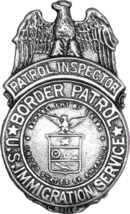 Badge of the United States Border Patrol, circa 1939.