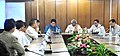 Bandaru Dattatreya briefing the State Officials, in Aizawl, Mizoram on October 07, 2015. The Mizoram Minister of State for Labour & Employment, Shri Lalrinmawia Ralte is also seen.jpg