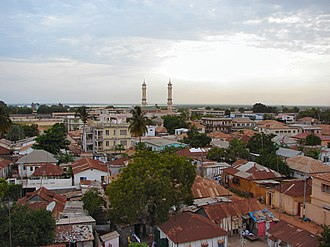 Banjul - King Fahd Mosque and surroundings