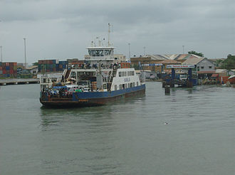 Transport in the Gambia - The Banjul ferry.