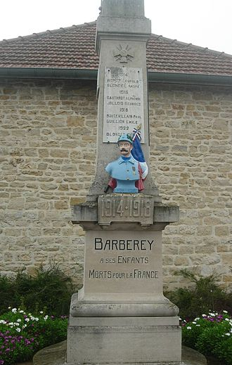 Barberey-Saint-Sulpice - The War Memorial