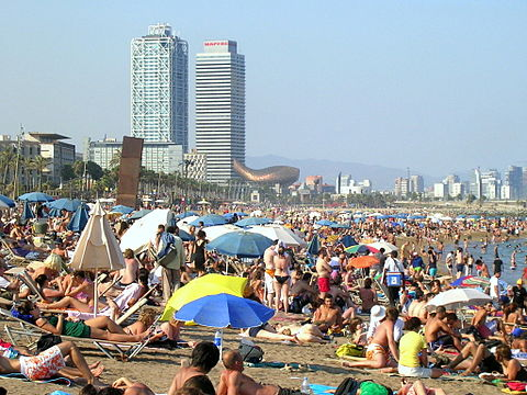 Barcelona beach season