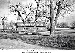 Buffalo Bill Ranch - Barn, view to the north