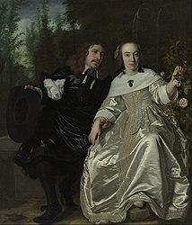 Portrait of Abraham del Court and his wife Maria de Keerssegieter.