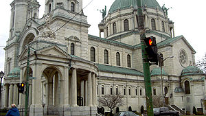Our Lady of Victory Basilica (Lackawanna, New York) - View of the side exterior of Our Lady of Victory Basilica.