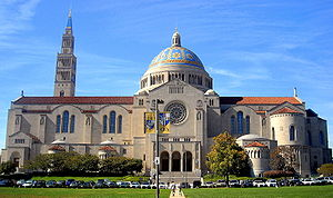 Religion in the United States - The Basilica of the National Shrine of the Immaculate Conception in Washington, D.C., is the largest Catholic church in the US.