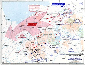 Russian invasion of East Prussia (1914) - Eastern Front, 17–23 August 1914.