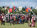Battle of Tewkesbury reenactment - pre-clash preparation.jpg