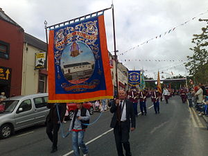Orange walk - Battlehill LOL 395 marching in Tandragee on 12 July 2008