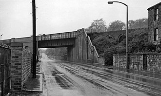Leeds New Line - The site of Battyeford station in 1961
