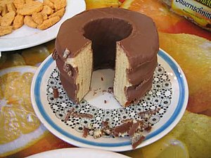 "Puerto Varas - Baumkuchen, literally translated ""tree cake"" or ""log cake"""