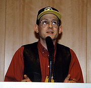 Stephen Baxter at the Science-Fiction-Tage NRW in Dortmund, Germany, March 1997