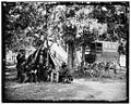 Bealeton, Va. Group at tent and wagon of the New York Herald 03915v.jpg
