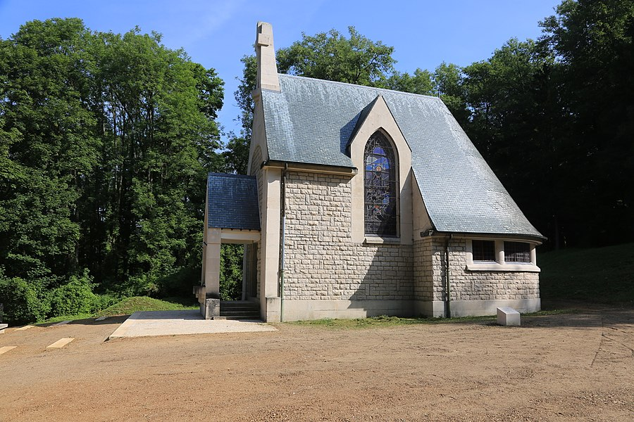 Memorial church in the village Beaumont-en-Verdunois that was destroyed in the first world war