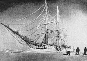 Roald Amundsen - RV Belgica frozen in the ice, 1898