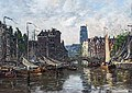 Bemberg Fondation Toulouse - Rotterdam, Le Pont de la Bourse - Eugène Boudin 1876.jpg