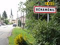 Benaménil (M-et-M) city limit sign.jpg