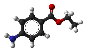 Benzocaine - Image: Benzocaine from xtal 3D balls