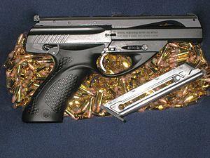 "Beretta U22 Neos - Beretta U22 Neos basic model; black with 4.5"" barrel."