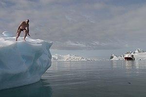 Lewis Pugh - Pugh training in Antarctica in 2005