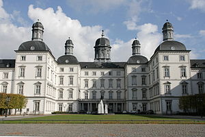 Bergisch Gladbach - Forecourt of Schloss Bensberg