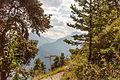 Bergtocht van Homene Dessus naar Vens in Valle d'Aosta. Doorkijkje vanaf het bergpad op omringende bergtoppen 01.jpg