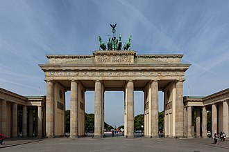 Greek Revival architecture - Brandenburg Gate in Berlin, Germany.