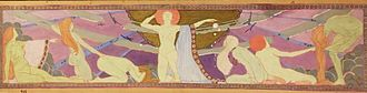 Bernadine Custer - Bernadine Custer Sharp, Study for a Mural, c. 1930s, from the Collection of the Londonderry Arts and Historical Society