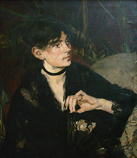 <i>Berthe Morisot with a Fan</i> C, 1870 painting by Édouard Manet