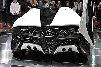 Alfa Romeo Pandion - Image: Bertone Pandion Concept rear