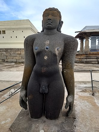 Bharata Chakravartin - Statue of Bharata as a monk at Chandragiri Hill, Shravanabelagola