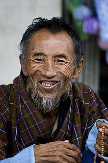 Un anziano bhutanese.