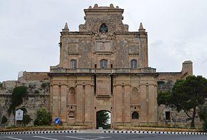 Cottonera Lines - The Notre Dame Gate, the main gate of the Cottonera Lines