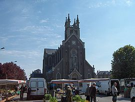 Bihorel 006 place eglise 2006.JPG