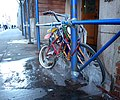 Bikes on ice Jay St jeh.JPG