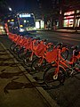 Biketown rack with bikes on evening before system launch.jpg