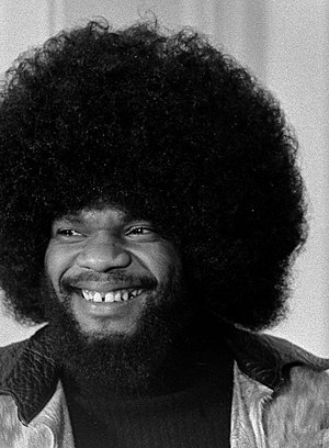 Afro - Musician Billy Preston with an Afro in 1974
