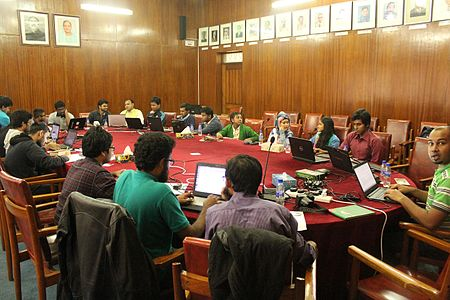 Bird Eye view of Edit-a-Thon Room of Bangladesh National Museum.jpg