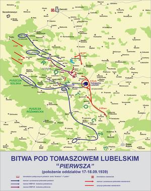 Battle of Tomaszów Lubelski - Image: Bitwa tomaszow lub 1