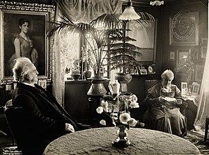 Bjørnstjerne Bjørnson - Bjørnstjerne Bjørnson and Karoline Bjørnson at Aulestad