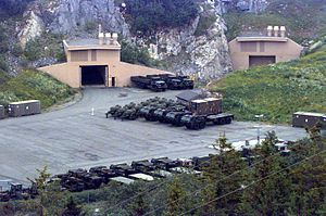 Marine Corps Prepositioning Program-Norway - An entrance to the storage caves at Bjugn in 1997