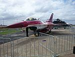 Black Knight 1 F-16C-D Fighting Falcon on display at the 2015 Australian International Airshow 3.jpg