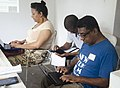 Black Lunch Table Wikipedia Edit-a-thon at Alice Yard, Trinidad and Tobago 09.jpg