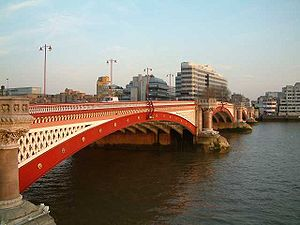 The Road and Pedestrian Blackfriars Bridge fro...