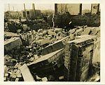 Blast-damaged interior and combustible debris of Hiroshima University Museum.jpg