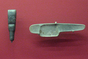 Bloodletting in Mesoamerica - Mexico, probably Guerrero, Olmec Blood-letter Handle, 1000-600BC