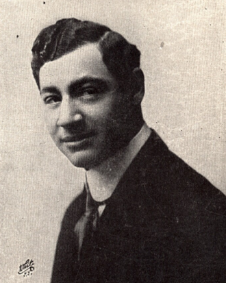 "Robert North - Bobby North in 1908 from the sheet music for ""He'd Have to Get Under – Get Out and Get Under (to Fix Up His Automobile)"""