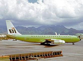 Braniff International Airways - Boeing 707-320C of Braniff International at Honolulu Airport in 1971