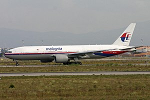 Malaysia Airlines Flight 17 - 9M-MRD, the aircraft that was shot down, photographed on October 21, 2011